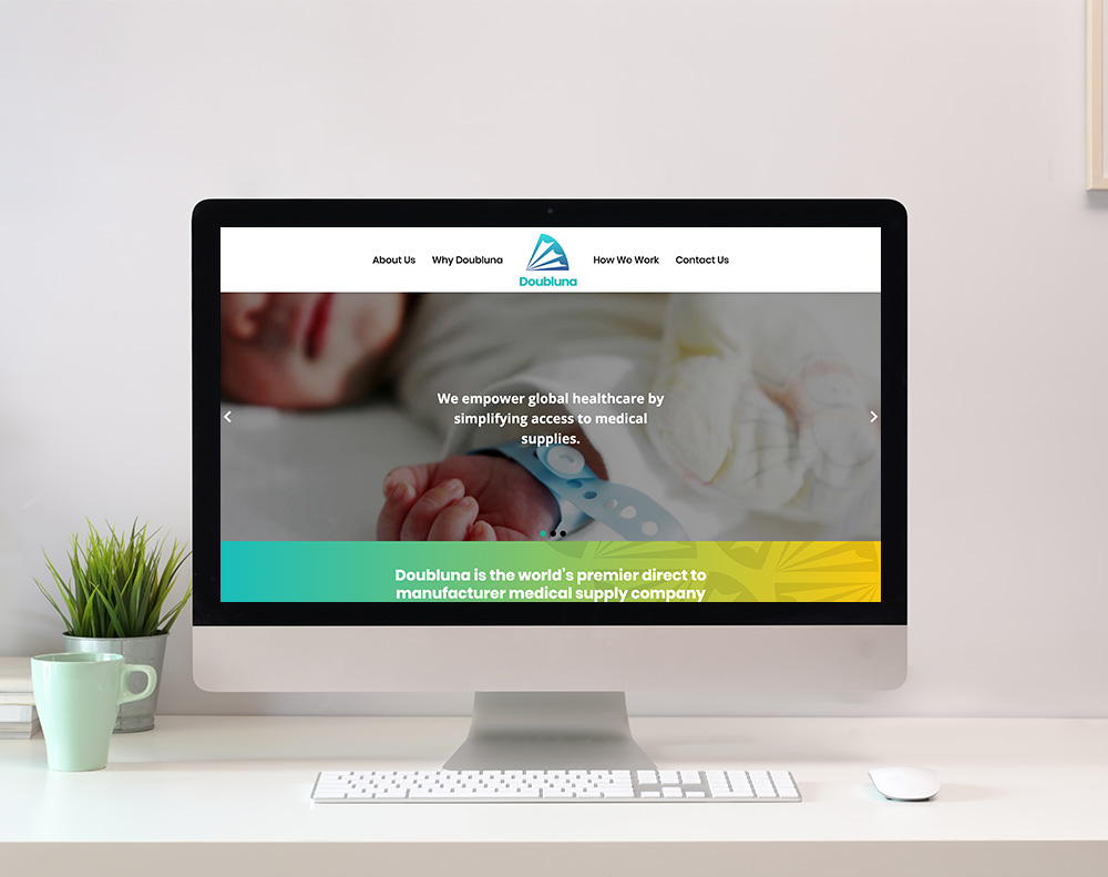 Medical Company Website Design graphic