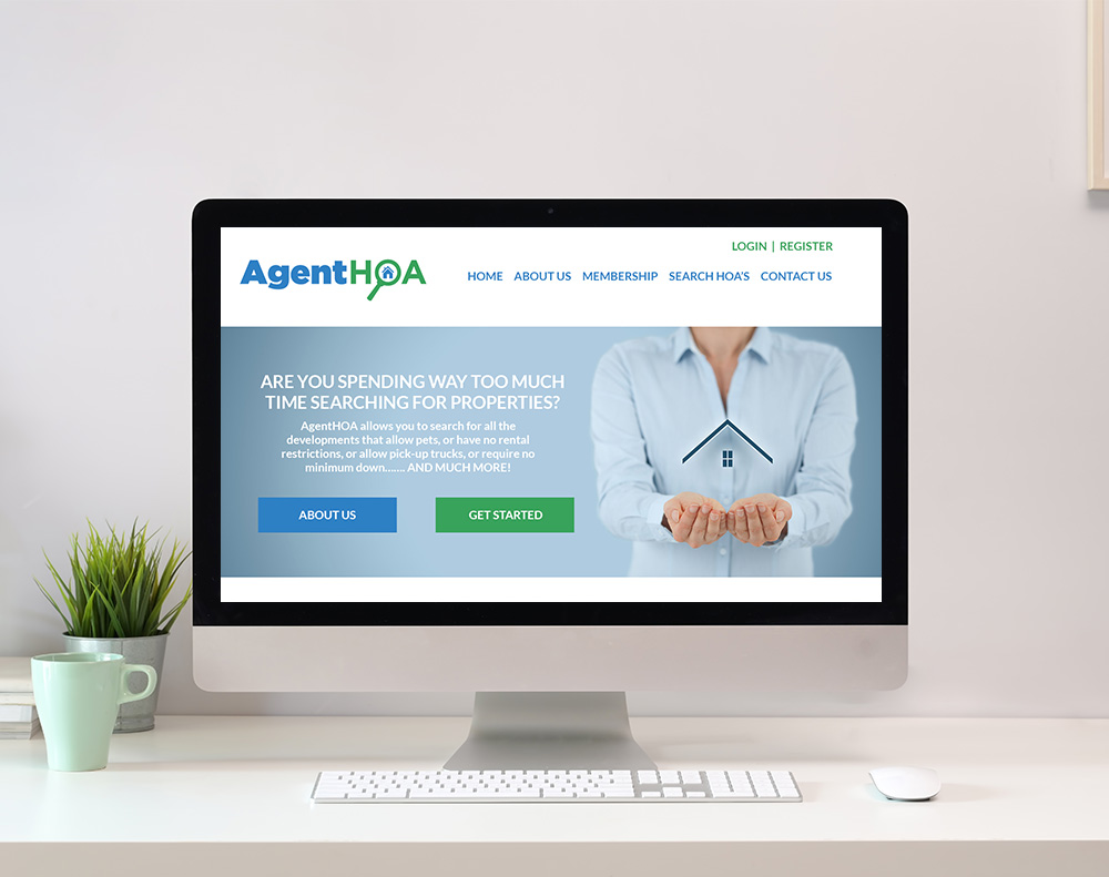 Real Estate Agent Website Design graphic