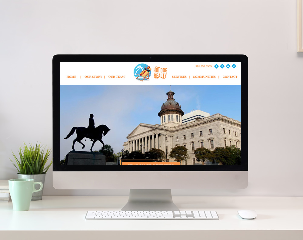 Real Estate Company Website Design graphic