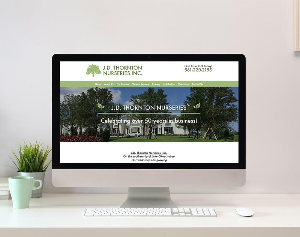 Tree Nursery Website Design graphic