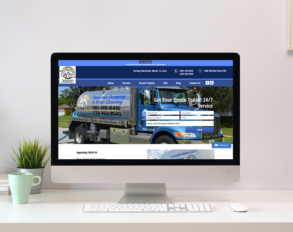 Plumbing Company Website Design graphic