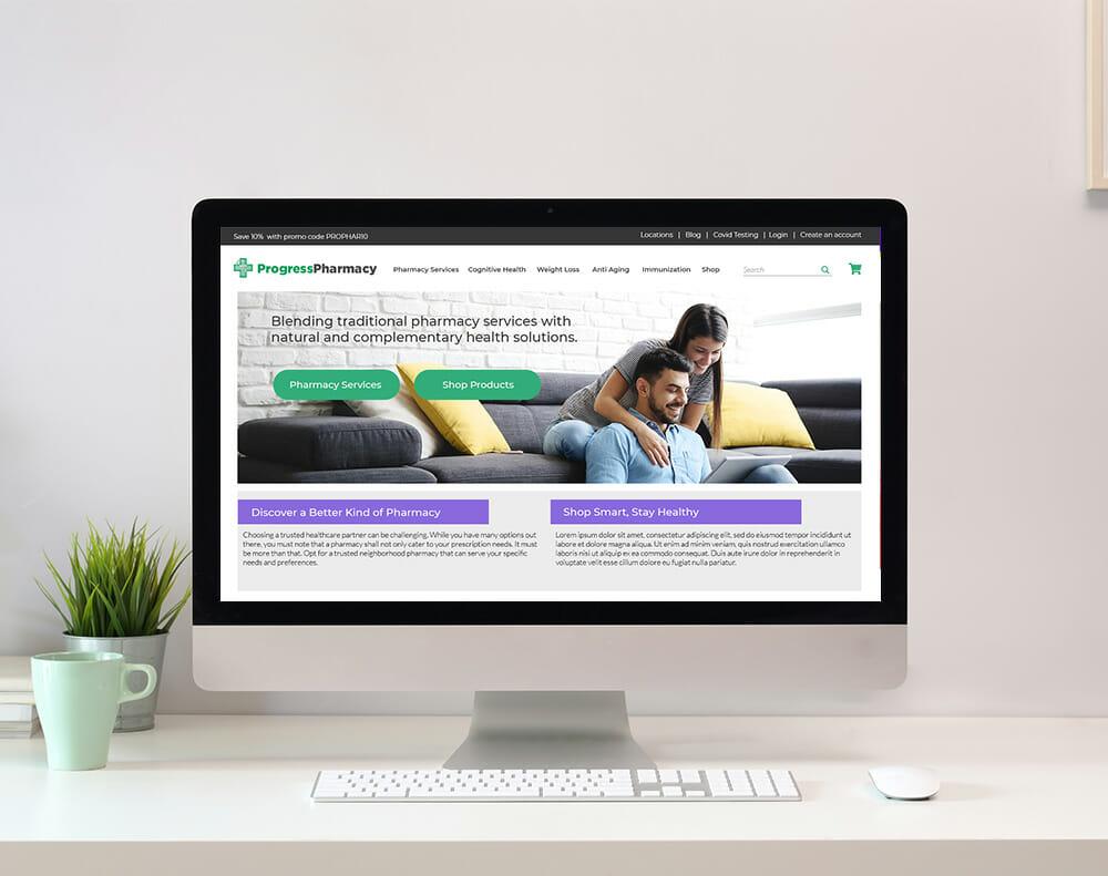 Pharmacy Website Design graphic